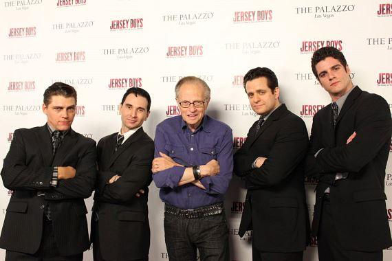 Larry King with the Jersey Boys at The Palazzo
