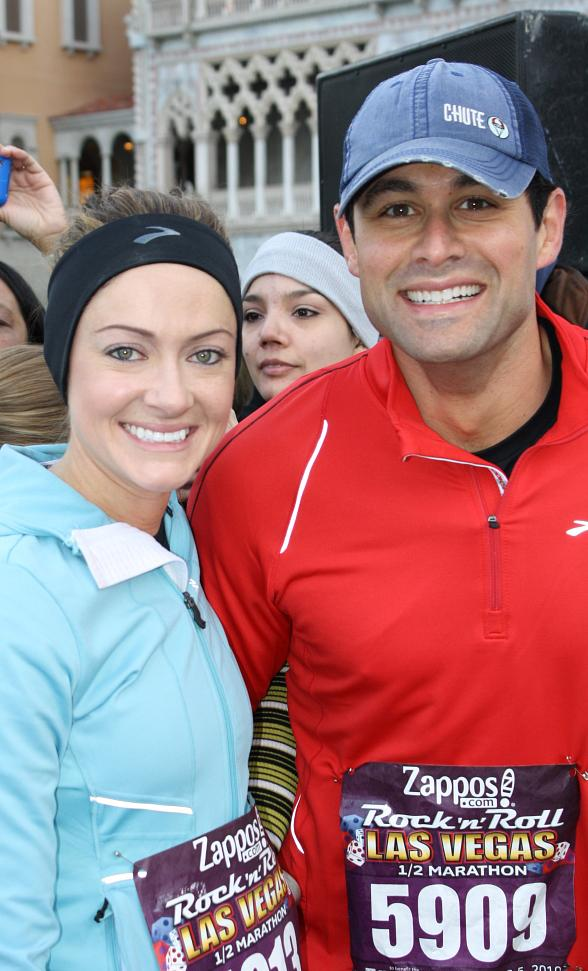 Jason Mesnick and Molly Malaney of The Bachelor pose for a photo before renewing their vows