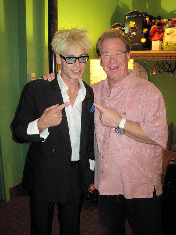 Murray SawChuck with Dr. Gadget backstage at the Tropicana Las Vegas