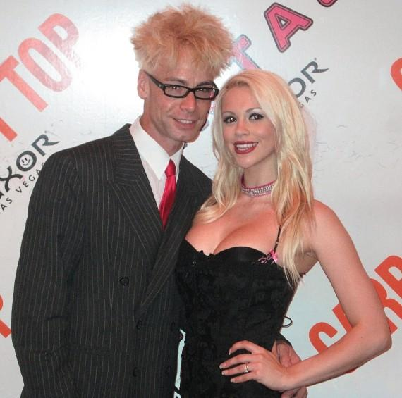 Comedy Magician Murray SawChuck with wife Chloe Crawford at FANTASY