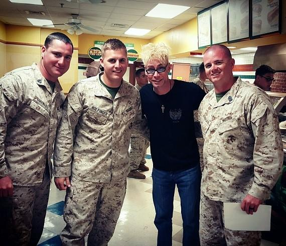 Murray with Marines on USO Tour