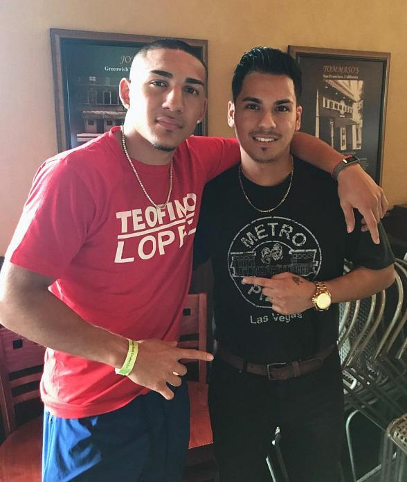 Rising Boxing Star Teofimo Lopez Dines at Metro Pizza East in Las Vegas