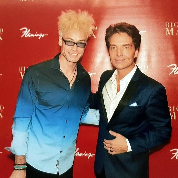 Planet Hollywood Headliner Murray SawChuck Visits Richard Marx at his Last Flamingo Show