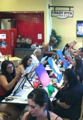 Crazy Pita Town Square Extends Paint-Drink-Dine Events through Nov. 10