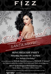 Absinthe star Melody Sweets hosts Christmas song release party at Fizz at Caesars Palace Dec. 19