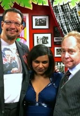Mindy Kaling visits Penn & Teller at Rio All-Suite Hotel & Casino in Las Vegas