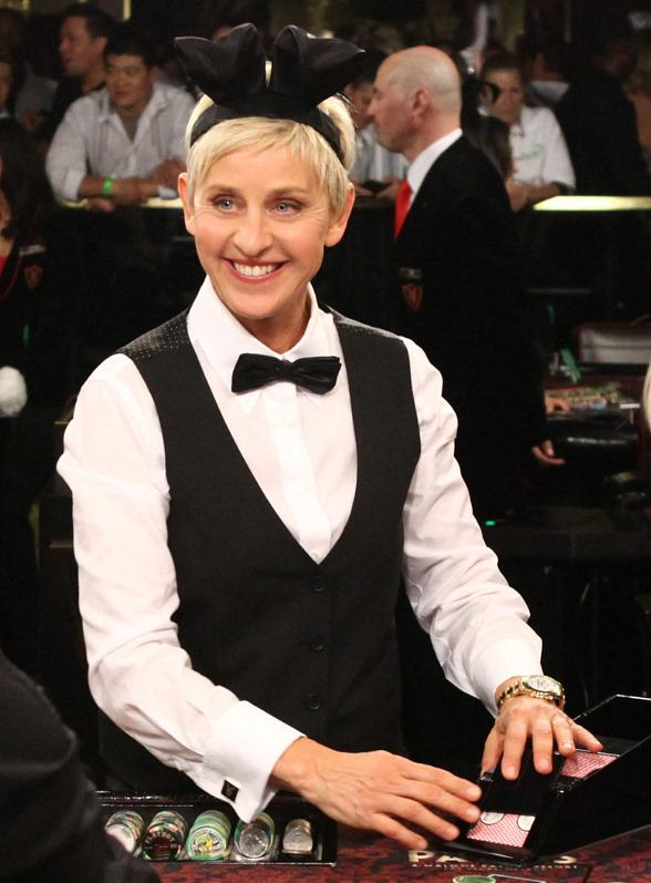 Ellen DeGeneres Deals Blackjack at the Palms Casino Resort