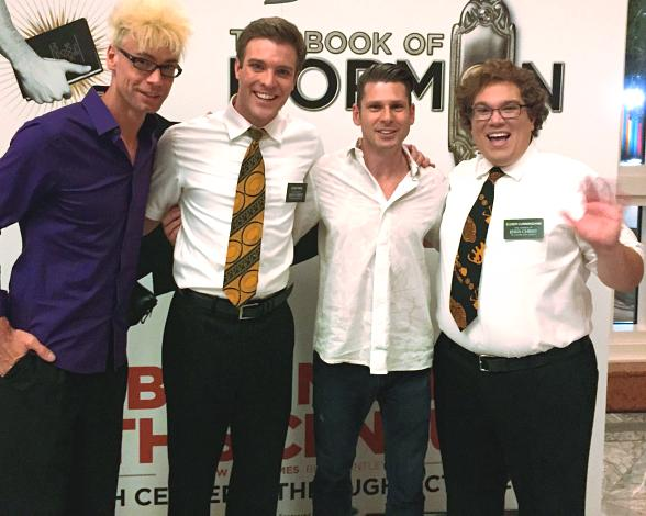 Magicians Murray SawChuck and Mike Hammer attend The Book of Mormon