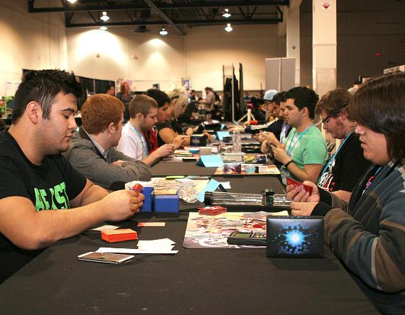 Guest relaxing and playing games in the table top games area