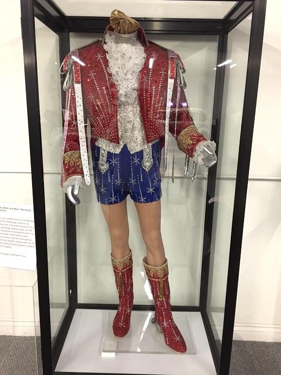 Red, white and blue costume was worn by Liberace for his 1986 Radio City Music Hall show