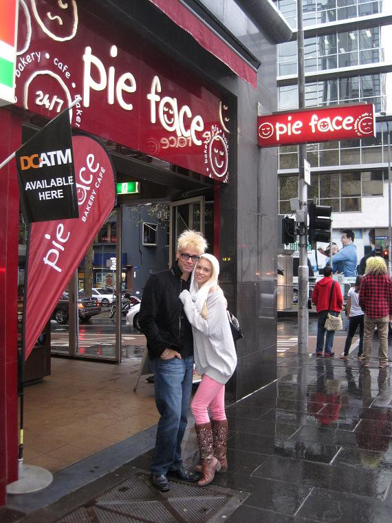 "Murray and Chloe at ""Pie Face"""