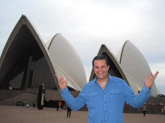 "Douglas ""Lefty"" Leferovich at the Opera House in Sydney, Australia"
