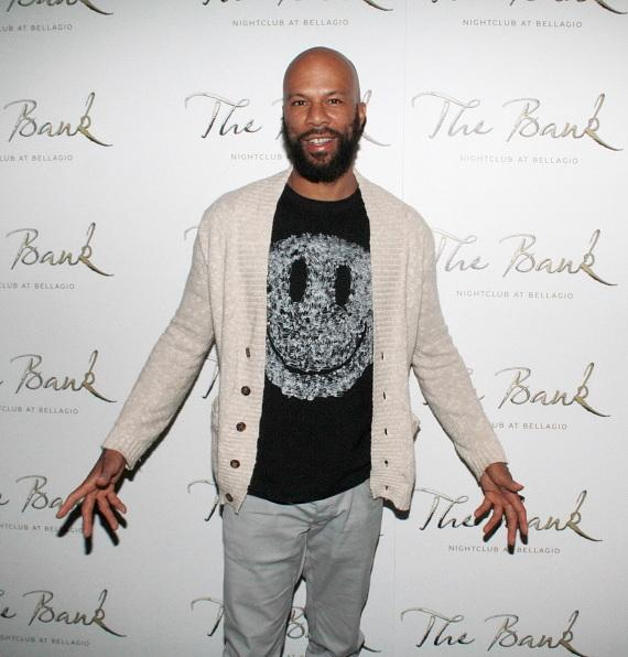 Common on the red carpet at The Bank Nightclub at Bellagio in Las Vegas