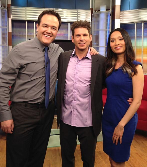 Four Queens Headliner Mike Hammer Appears on The Morning Blend TV Show in Las Vegas