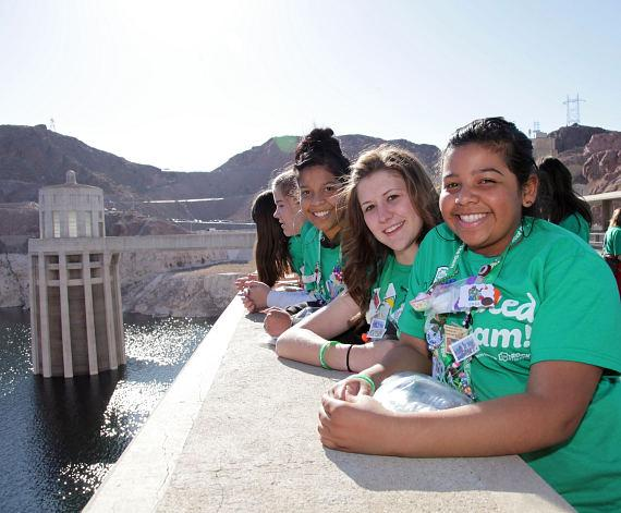 Hoover Dam honors Girl Scouts 100th Anniversary with Largest Girl Power Billboard