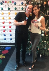 """""""The Real Housewives of Orange County"""" Stars Terry & Heather Dubrow Dine at Sugar Factory in Las Vegas"""