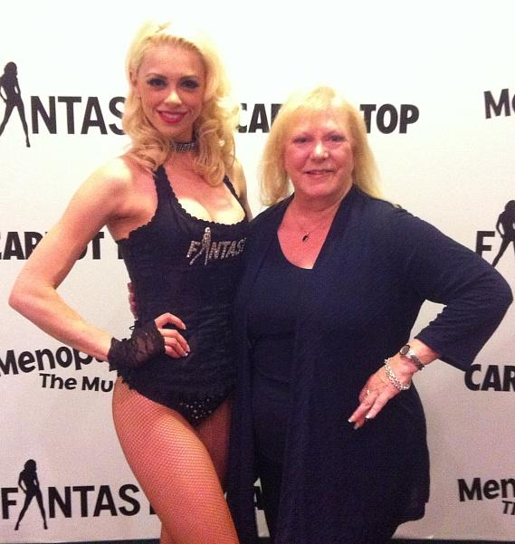 Chloe Crawford and Gay Blackstone at FANTASY show at Luxor Las Vegas