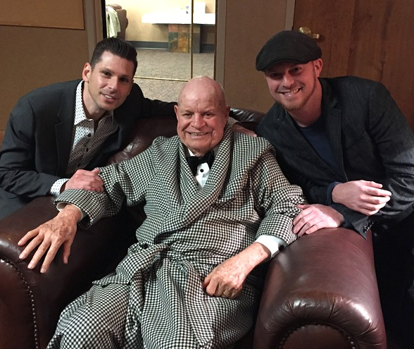 Celebrity Sighting: Comedy Magician Mike Hammer visits with Don Rickles