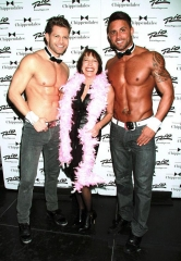 """Grease"" Actress Didi Conn Visits Chippendales at Rio Las Vegas"