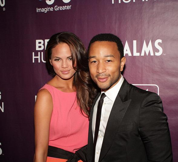 John Legend and Chrissy Tiegen at Palms Casino Resort: