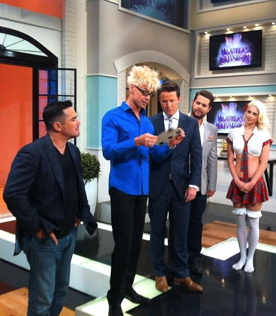 Dean Cain, Murray Sawchuck, Billy Bush, Jack Osbourne and Chloe Louise Crawford on Access Hollywood