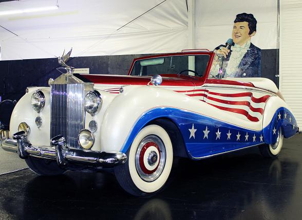 Liberace Garage at Hollywood Cars Museum adds the late Entertainer's Classic Red, White and Blue