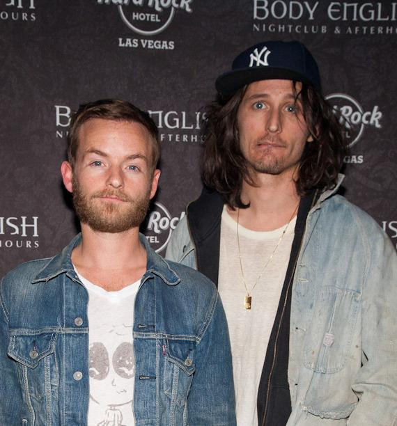 Christopher Masterson and Nick Valensi at Body English Nightclub