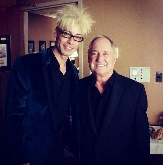 Murray SawChuck with Neil Sedaka at The Orleans Hotel & Casino