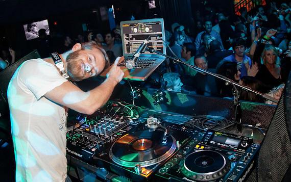 Christopher Masterson spins at Body English Nightclub
