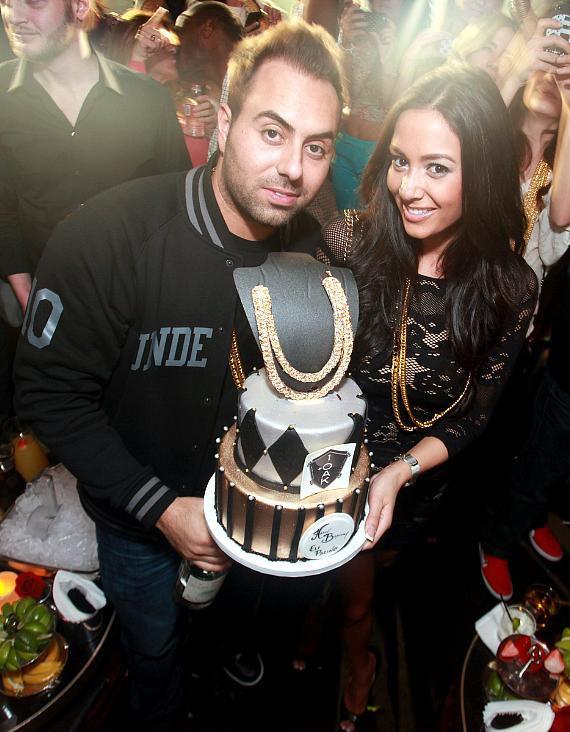 1OAK managing partner Eli Pacino with Birthday Cake