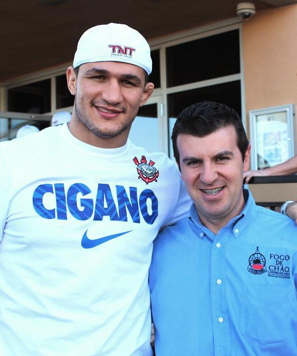 Brazilian UFC Fighter Junior Dos Santos Refuels at Fogo de Chao