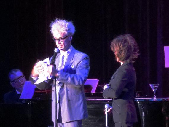Murray on stage with Deana Martin (Dean Martin's Daughter) at South Point Hotel & Casino