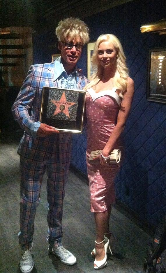 Murray with wife Chloe Crawford backstage at LA Music Awards and FAME Awards
