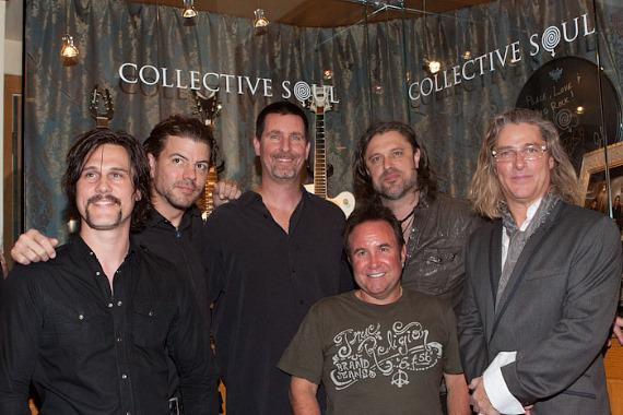 Collective Soul with Paul Davis, Vice President of Entertainment of Hard Rock Hotel, at Hard Rock Hotel Showcase Presentation