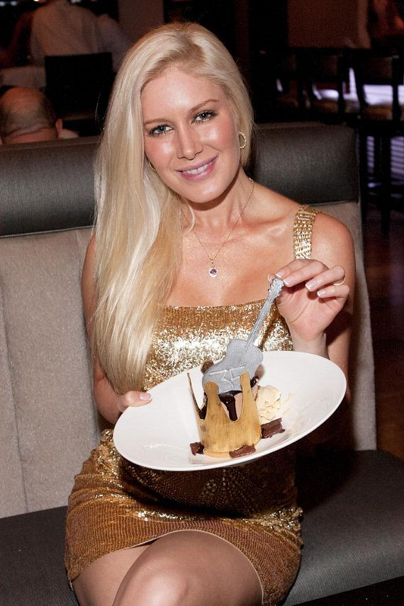 Heidi Montag at 35 Steaks + Martinis in Hard Rock Hotel