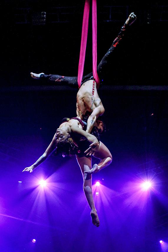 "Michael Lipari and Tina ""Londyn"" Chattle were among the performers featured during Circus Couture's ""Possession(s)"" event held at The Joint inside Hard Rock Hotel & Casino"