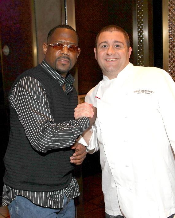 Martin Lawrence with Chef Geno Bernardo