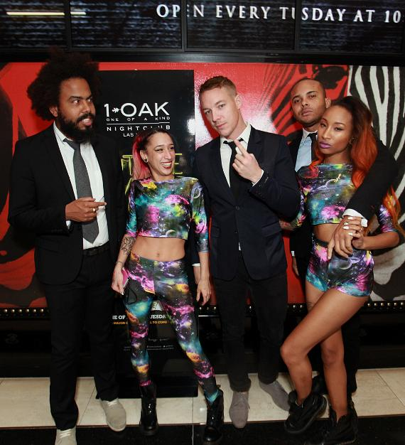 Walshy Fire, Jillionaire, Wesley Pentz and dancers of Major Lazer 