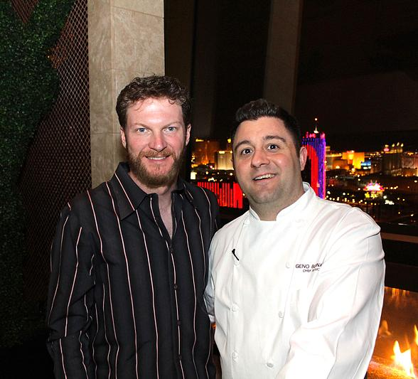 NASCAR Driver Dale Earnhardt Jr. with Executive Chef Geno Bernardo