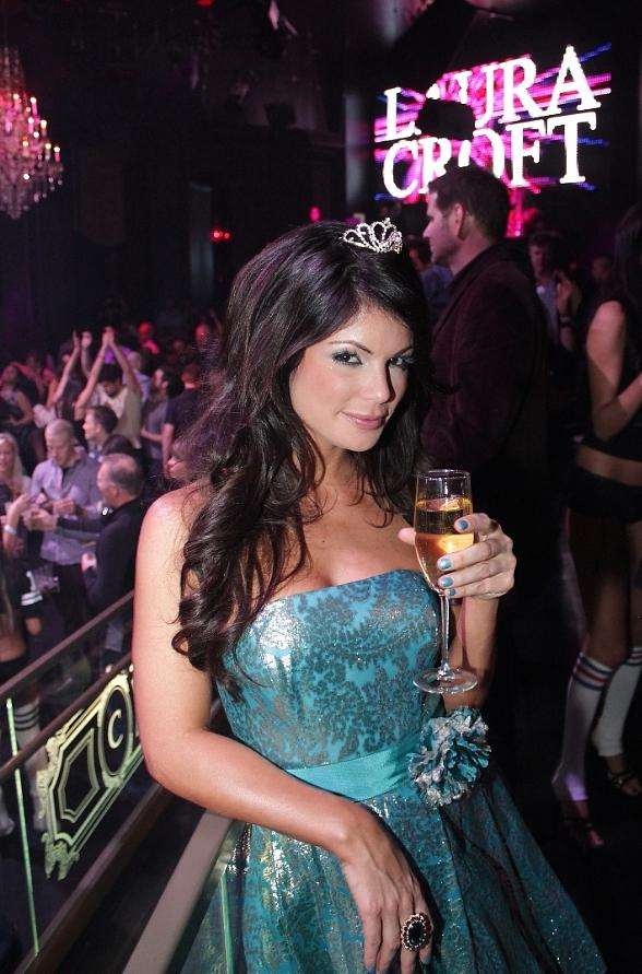 Laura Croft enjoys her night as a princess during her birthday celebration at Chateau Nightclub & Gardens