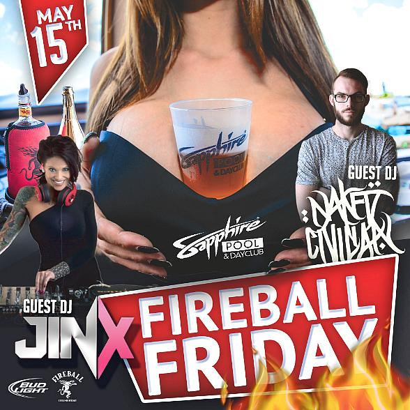 Naked Civilian and DJ JINX to host at Sapphire Pool & DayClub on Friday, May 15
