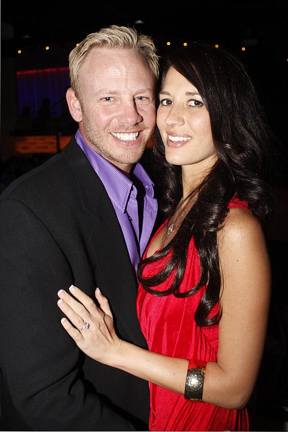 Ian Ziering with fiancé Erin Kristine Ludwig at PURE Nightclub-570