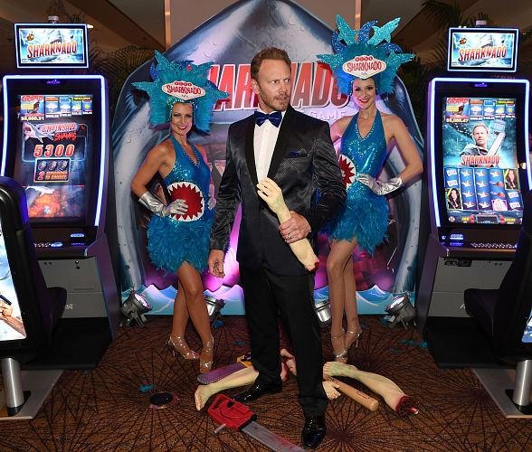 Aristocrat and Ian Ziering Debut New Sharknado Slot Game