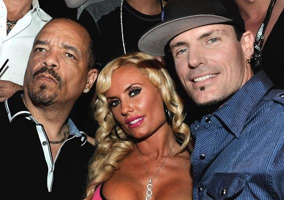 Ice-T, Coco and Vanilla Ice at Gallery Nightclub at Planet Hollywood Resort & Casino in Las Vegas