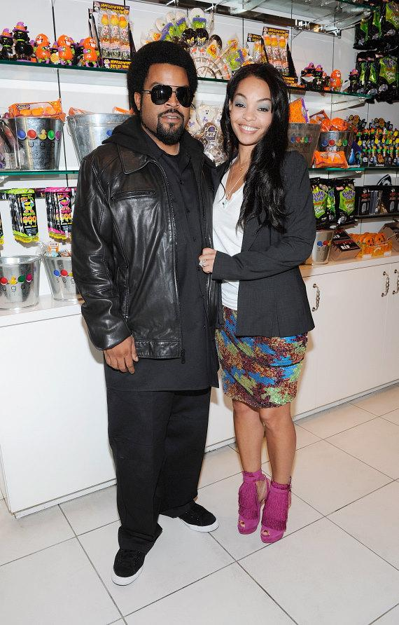 Ice Cube and his wife, Kimberly Woodruff, shop for Halloween treats at Sugar Factory