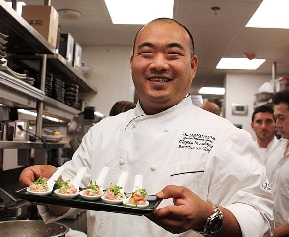 Chef Clayton Arakawa of Mauna Lani Bay Hotel and Resort Hawaii