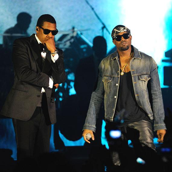 JAY-Z and Kanye West perform at The Cosmopolitan of Las Vegas New Year's Eve and Grand Opening Celebration