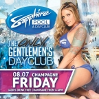 Ladies Drink Free Champagne from 4-6PM at Sapphire Pool & Dayclub on Champagne Friday, August 7