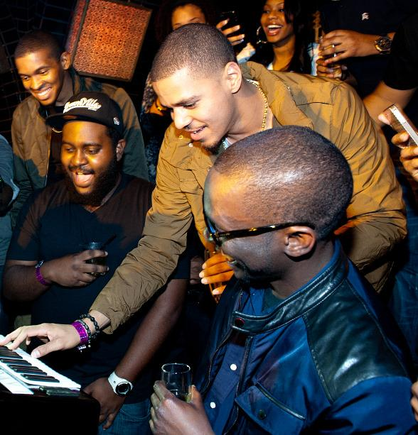J Cole with birthday cake at LAVO