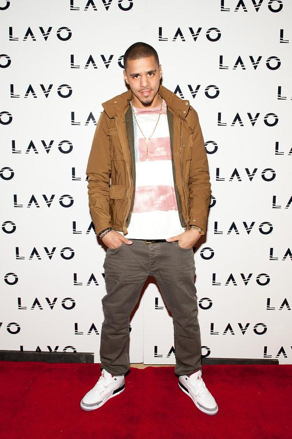 J Cole on the LAVO red carpet